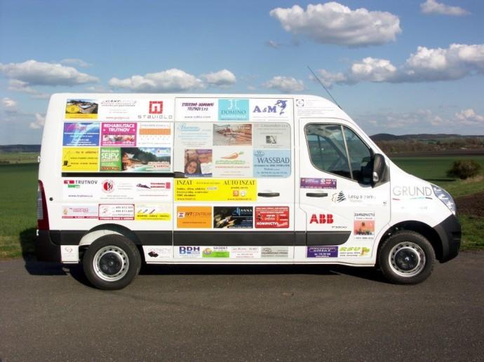 Sponzorujeme pořízení sociálního automobilu pro dětskou léčebnu Vesnu v Janských Lázních...